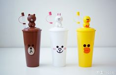 LINE FRIENDS为你打造的可爱梦幻世界 Line Cony, Hello Kitty, Cony Brown, Line Friends, Line Store, Cute Crafts, Cartoon Images, Kawaii, Water Bottles