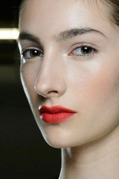 """There's A Red-Lip Revival Happening At Fashion Week #refinery29  http://www.refinery29.com/red-lipstick-fashion-week-spring-2015#slide5  Missoni The skin at Missoni was supposed to look """"slightly sweaty,"""" but the models' perfect lips were anything but: Lucia Pieroni applied MAC Lipstick in Dangerous all over, blending the corners with a Q-tip, and then feathered the true, warm Relentlessly Red into the middle of the mouth. (Again, the finish was matte — noticing a trend here?)"""