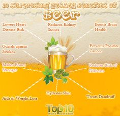10 Surprising Health Benefits of Beer
