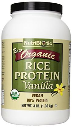 Nutribiotic Organic Rice Protein Vanilla 3 Pounds * Check this awesome product by going to the link at the image.