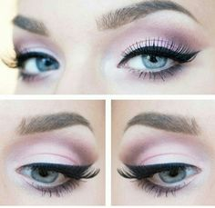 Soft makeup eyes
