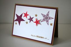 Stampin Up Simply Stars card