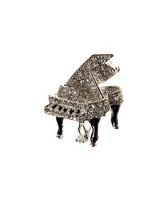 Another great find on #zulily! Silvertone Grand Piano Brooch #zulilyfinds