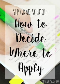 Sharing some tips to hopefully help you narrow down where you want to apply for speech-language pathology graduate school!