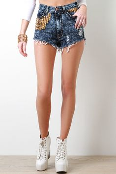 Savage Motif Shorts