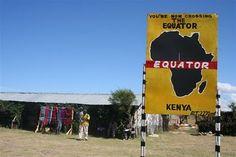 Equator line in Kenya.