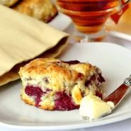 Raspberry and White Chocolate Scones