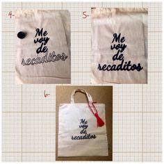 Cómo pintar bolsas de tela II