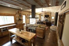 Rustic modern home with reclaimed materials in Texas