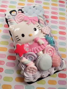 Hello Kitty Candy Explosion Kawaii Decoden Deco by Lucifurious, $36.00
