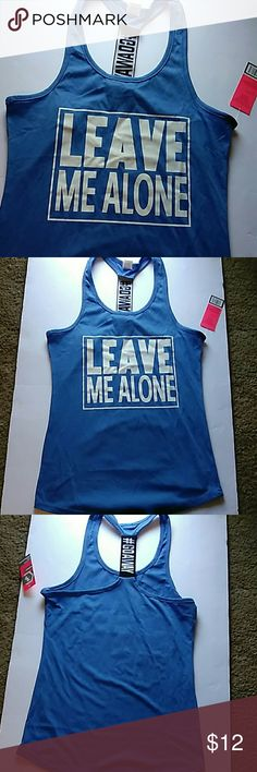 2 for 12LEAVE ME ALONE WORKOUT TANK #WORKOUT IN STYLE.                                                                  *BLUE LEAVE ME ALONE!                                                            #MUST HAVE Tops Tank Tops
