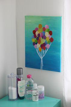 Het zweefde al een hele tijd in mijn hoofd: ik wilde eentros ballonnen schilderen op canvas. Zozat ik steeds maar te denken hoe ik dat nu moest gaan doen, afgelopen week heb ik het gewoon… View Full Post Small Canvas Art, Kids Canvas, Canvas Artwork, Diy Home Decor Bedroom, Mini Paintings, Diy Painting, Arts And Crafts, Drawings, Kobe