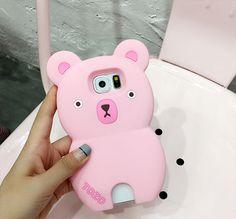 Samsung s7/s7edge, s6/s6edge, note4/5 Handyhülle mit 3D Süße Bear Desgin
