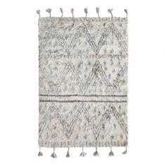 HK living / Vlněný koberec Beige Black 120x180cm