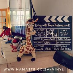 Decided to customise our #ClapperBoard 🏡 🎬💕 with #Vinyl to add to our themed #Lounge ⭐ www.namaste.co.za/vinyl #NamasteVinyl #NamasteProducts Namaste, Lounge, Scene, Ads, Shop, Products, Airport Lounge, Lounge Music, Gadget