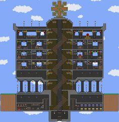 Minecraft tower Ideas - Fresh Minecraft tower Ideas , Garry S Mod Ttt Nyan Cat Gun Design Ideas How to Make A Video Terraria Memes, Terraria Tips, Terraria House Design, Terraria House Ideas, Terraria Castle, Nyan Cat, Spiral Staircase, Game Design, Design Ideas