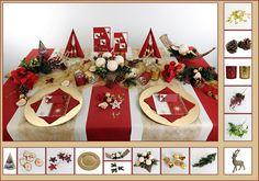 8. Mustertisch Adventsstern in Bordeaux - Tischdeko Weihnachten - Tafeldeko.de
