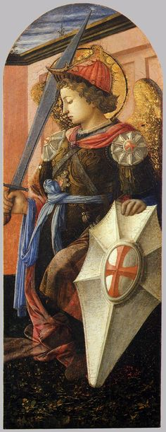 Panel from a Triptych: The Archangel Michael / El Arcángel San Miguel // 1458 // Filippo Lippi // Museum of Art, Cleveland // Image: www.wga.hu