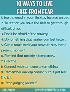 10 ways to get rid of fear