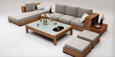 #sofasetmodels ... Furniture Sofa Set, Garden Furniture, Outdoor Furniture Sets, Outdoor Decor, Wooden Sofa Designs, Teak, Living Room, Handmade, Home Decor