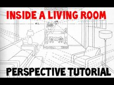 How to Draw a Room with Perspective Drawing Tutorial of a Living Room - How to Draw Step by Step Drawing Tutorials
