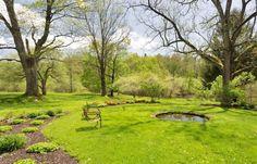 This Circa-1700 Farmhouse for Sale is Rumored To Have Housed Four U.S. Presidents  - Veranda.com Formal Gardens, Outdoor Gardens, Veranda Magazine, Outdoor Spaces, Presidents, Golf Courses, Real Estate, Farmhouse, Cottage