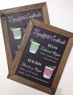 7 Clever Wedding Drink Accessories (sign: paper tangent)