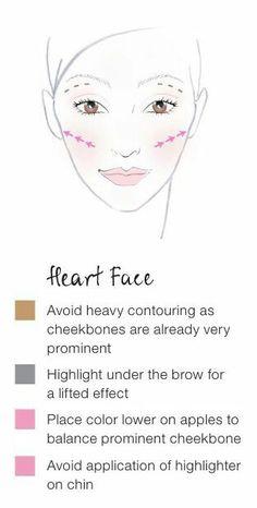 Contour Heart Shaped Face, Heart Face, Face Contouring, Contour Makeup, Skin Makeup, Face Shapes, Heart Shapes, Makeup Tips, Beauty Makeup