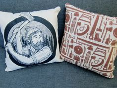 GOT TO HAVE THESE! LUMBERJACK pillow. $35.00, via Etsy.
