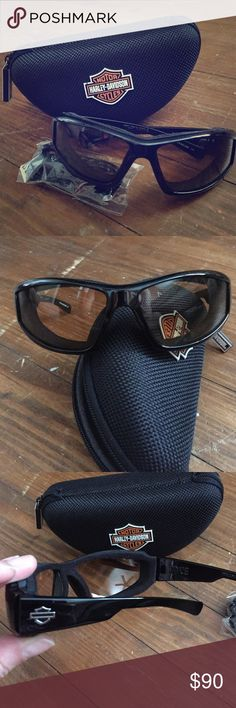 Harley Davidson Sunglasses Like new condition women's Harley sunglasses. Style is JAKE, made by Wiley X. Strap is brand new still in plastic, comes with zipper hard case. All authentic Harley, originally purchased at Orlando HD. Glasses have removeable foam face cavity seal for riding. Any questions, please ask. Reasonable offers always considered. Harley-Davidson Accessories Sunglasses