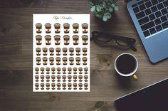 Take away mugs hand drawn stickers for erin condren happy