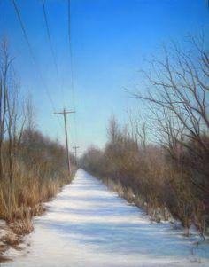"A cold, bright day. Pastel  18"" X 24"" Original Artwork by Travis Wheeler"