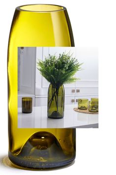 Magnum vase is the perfect vessel for a flower bouquet in any space around the house. Wine Bottle Centerpieces, Wine Bottle Vases, Empty Wine Bottles, Recycled Wine Bottles, Glass Bottle Crafts, Crafts With Wine Bottles, Wine Bottle Decorations, Wine Bottle Chimes, Wine Bottle Lanterns