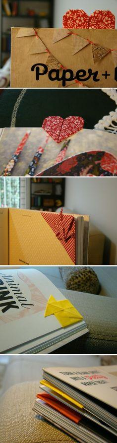 origami bookmarks by meemo  http://www.facebook.com/quero.um.meemo