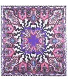 Pink Paisley Print Silk Scarf, Etro Paisley Design, Paisley Pattern, Paisley Print, Bandana Design, Beauty In Art, Designer Scarves, Liberty Print, Scarf Design, Silk Scarves