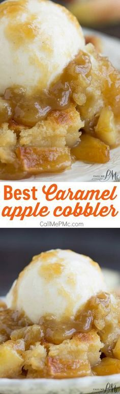 Best Caramel Apple Cobbler is a great dessert choice, especially during the fall!