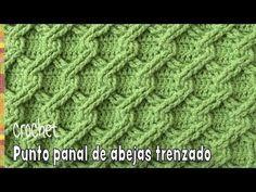 Punto panal de abejas trenzado tejido a crochet - Tejiendo Perú - YouTube