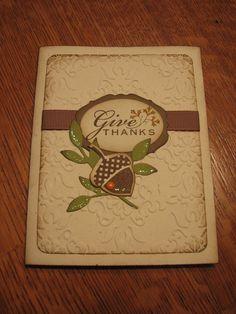 Stampin Up Thanksgiving card 2012