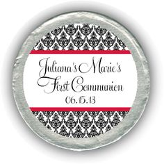 Damask First Communion Chocolate Coins