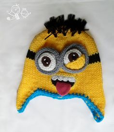 GORRO MINION KEVIN MINION KEVIN HAT (from a Mystybelle pattern)
