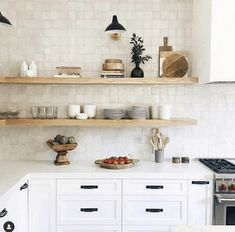 667 Likes, 15 Comments - cle tile ( zellige in weathered white -for the range wall Style At Home, Kirchen Design, New Kitchen, Kitchen Decor, Kitchen Tile, Kitchen Ideas, Square Kitchen, Stylish Kitchen, Sweet Home
