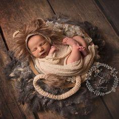 Baby lion! Cute newborn setup!