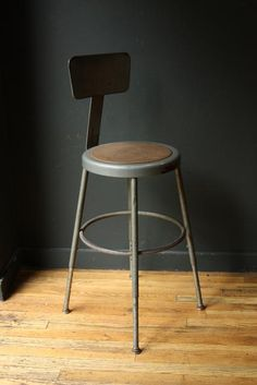 Vintage Industrial Drafting Stool   Adjustable Chair Reminds Me Of The Ones  We Had In Art