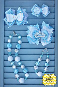 Cinderella Boutique Baby Headband, Disney Bow, OTT Bow, Disney Vacation Bow, Boutique Bow, Disney Headband, Princess Cinderella Bow on Etsy, $11.95