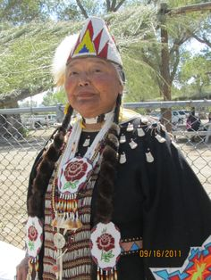 Lovely Native American Woman at 2011 Pow Wow in Nevada. Nez Perce Woman from the Northwest US.