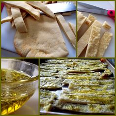 PROUD ITALIAN COOK: Rosemary & Olive Oil Pita Chips with Tuscan White Bean Dip
