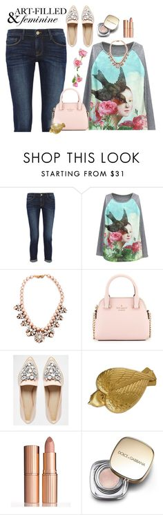 """Feminine"" by mharvey ❤ liked on Polyvore featuring Frame, Darya London, Kate Spade, ASOS, Salvador Dali, Charlotte Tilbury and Dolce&Gabbana"
