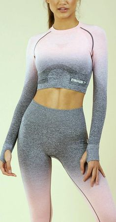 Spring   Activewear   Luvtolook   Virtual Styling Vogue Fashion, 90s Fashion, Fashion Dresses, Womens Fashion, Fashion Tips, Virtual Fashion, Yoga Wear, Sport Wear, Long Sleeve Crop Top