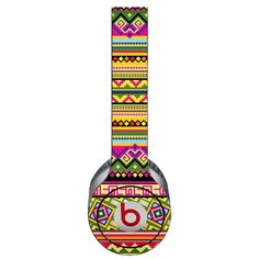 Happy Bright Tribal Decal Skin for Beats Solo HD Headphones by Dr. Dre:Amazon:Electronics