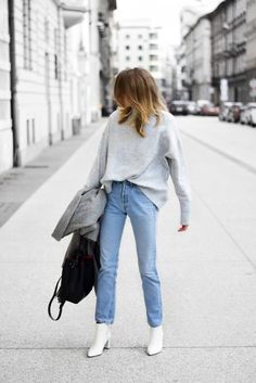 outfit with white boots; katiquette